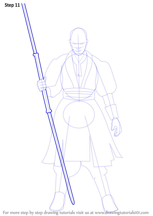 Step By Step How To Draw Darth Maul From Star Wars