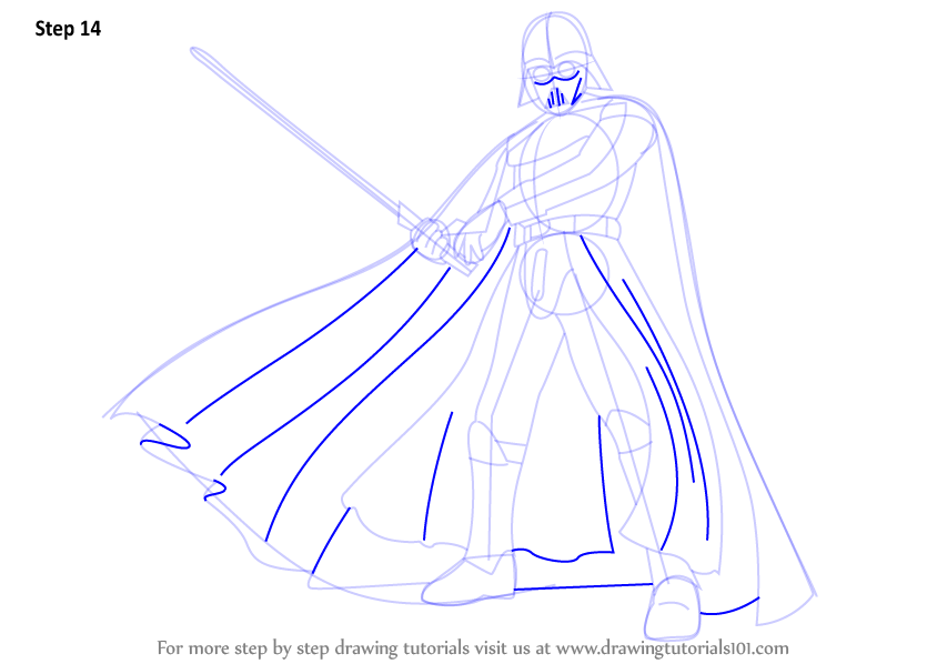 Learn How To Draw Darth Vader From Star Wars Star Wars Step By