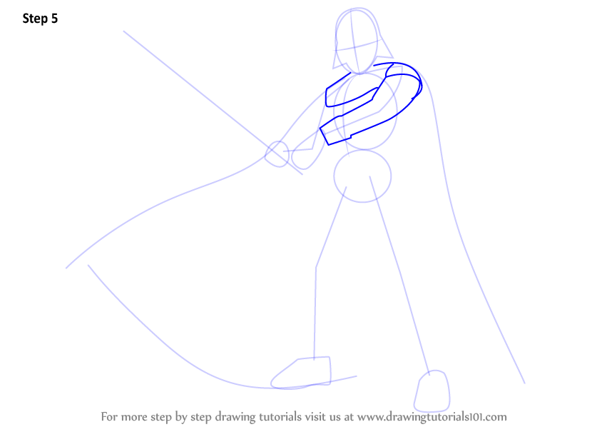 how to draw star wars characters darth vader