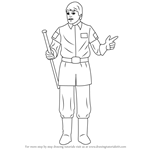 How to Draw General Crix Madine from Star Wars