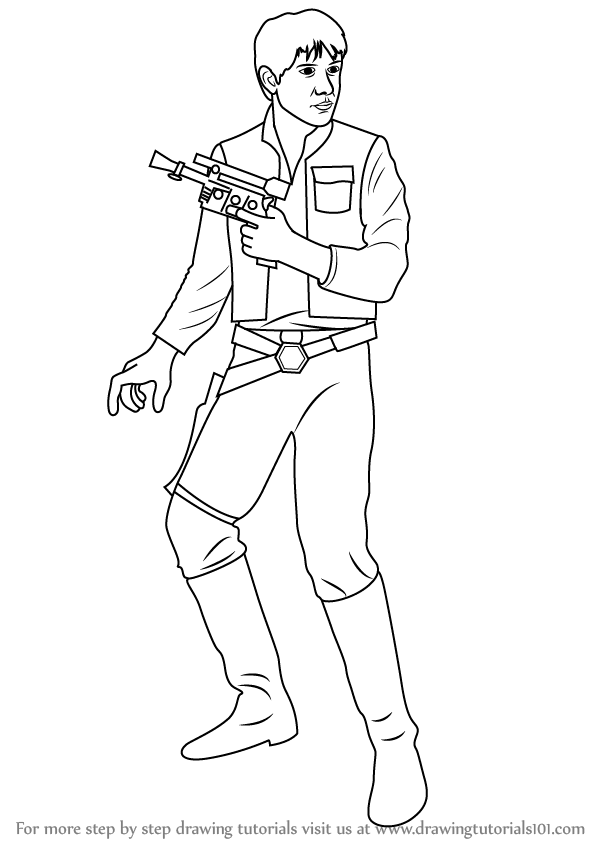 Civil war coloring pages kids for Han solo coloring page