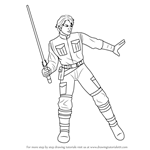 How to Draw Jacen Solo from Star Wars