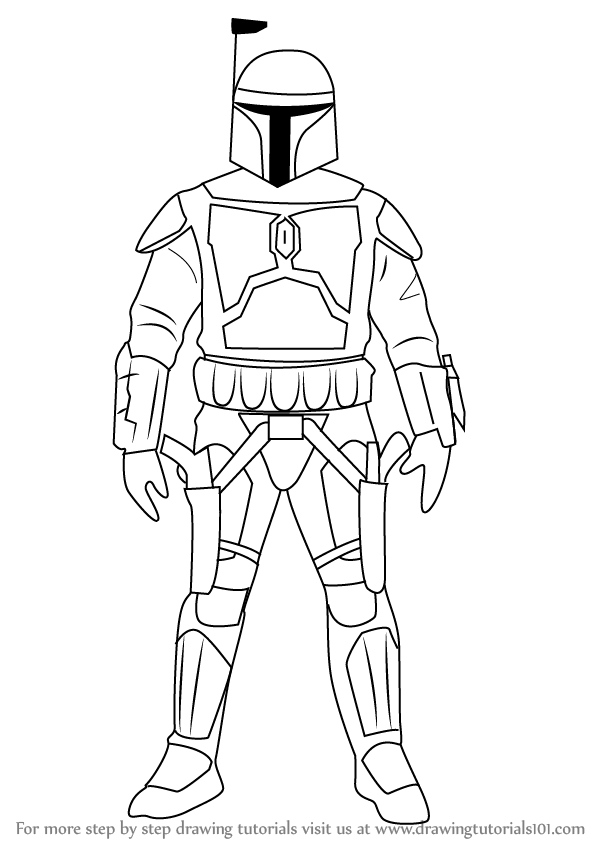 Learn How to Draw Jango Fett from