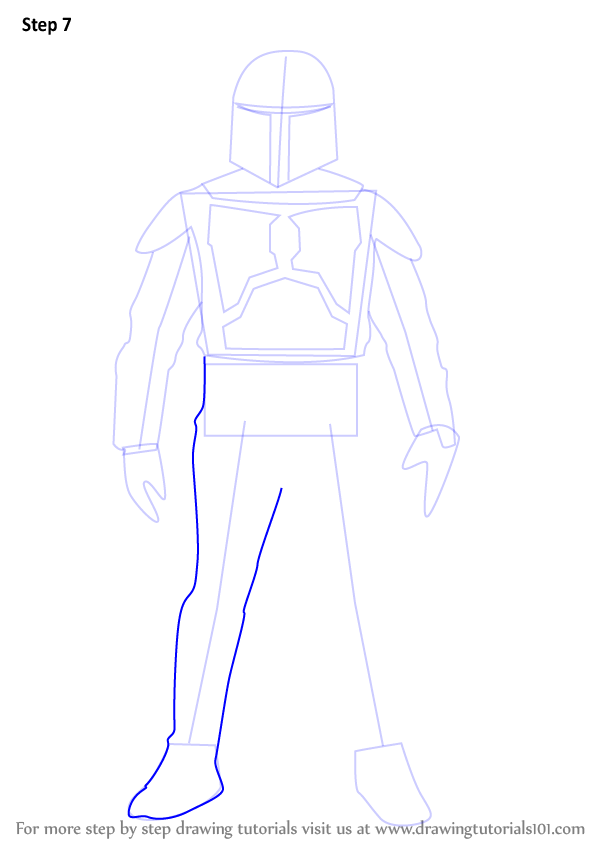 Step By Step How To Draw Jango Fett From Star Wars