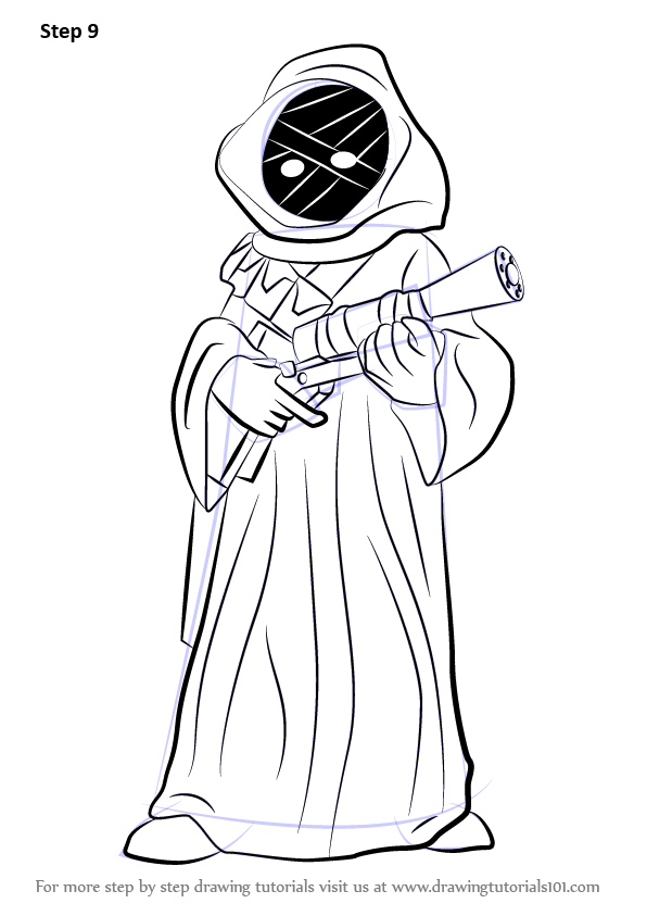Learn How To Draw Jawa From Star Wars Star Wars Step By
