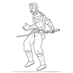 How to Draw Kyle Katarn from Star Wars