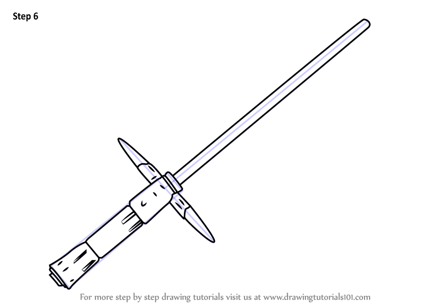 lightsaber coloring pages - learn how to draw kylo ren 39 s lightsaber from star wars