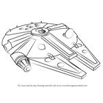 How to Draw Millennium Falcon from Star Wars
