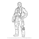 How to Draw Poe Dameron from Star Wars