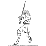 How to Draw Quinlan Vos from Star Wars