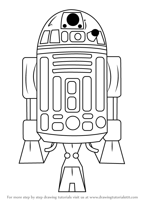 Learn How to Draw R2-D2 from Star Wars (Star Wars) Step by ...
