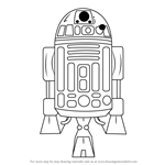 How to Draw R2-D2 from Star Wars