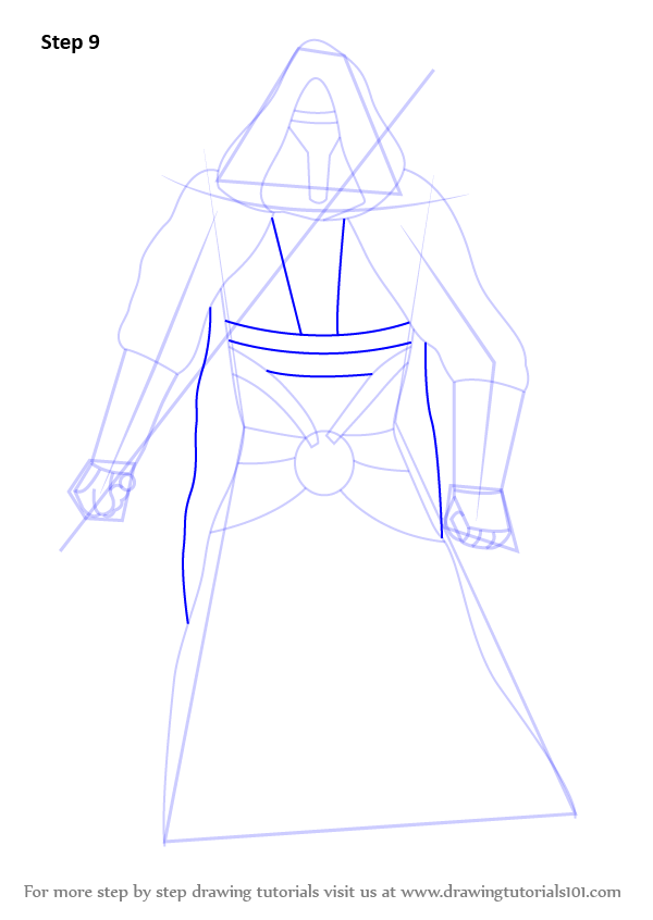 Step by Step How to Draw Revan from Star Wars ...