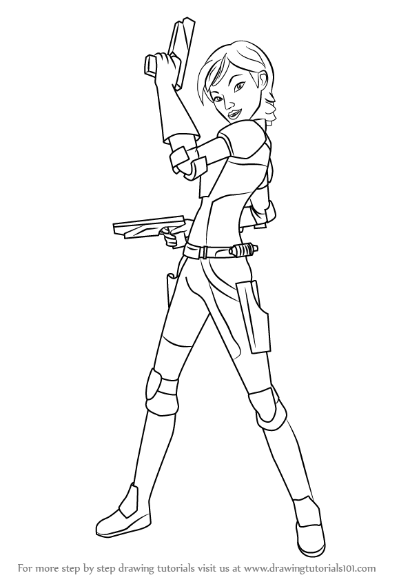 Learn How To Draw Sabine From Star Wars Star Wars Step