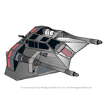 How to Draw Snowspeeder from Star Wars
