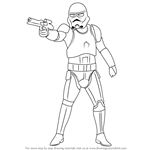 How to Draw Stormtrooper from Star Wars