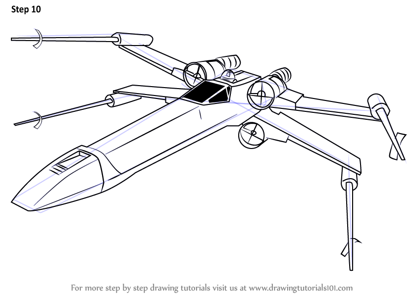 Step by Step How to Draw XWing
