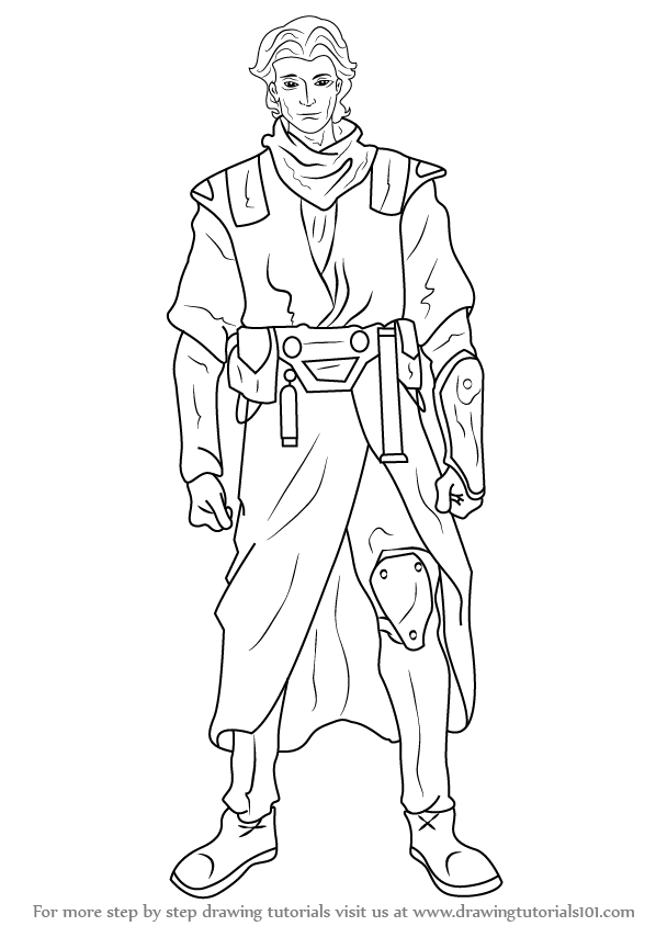 Learn How To Draw Zayne Carrick From Star Wars Star Wars Step By