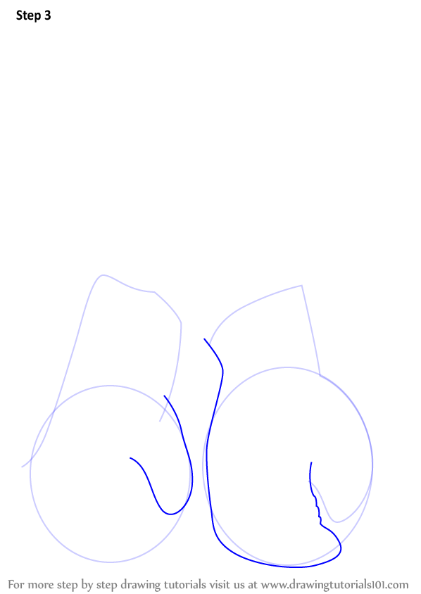 Learn How To Draw Boxing Gloves Boxing Step By Step Drawing