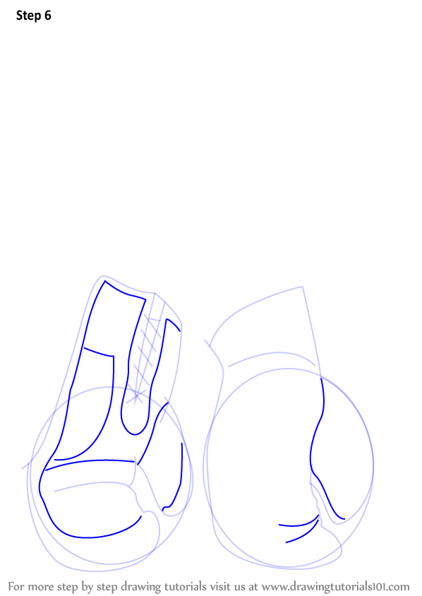 Step By Step How To Draw Boxing Gloves