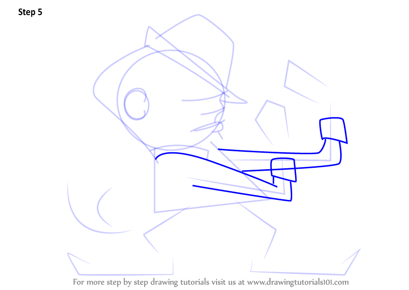 Step By Step How To Draw Notre Dame Fighting Irish Mascot