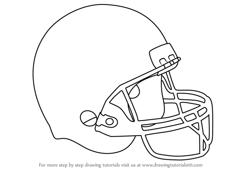 learn how to draw baseball helmet helmets step by step drawing