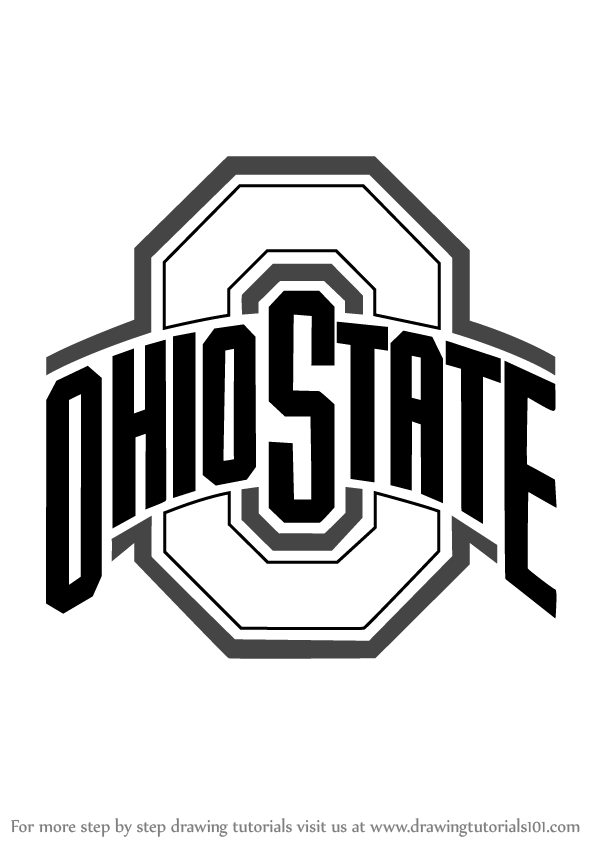 Step by Step Drawing tutorial on How to Draw Ohio State Buckeyes Logo
