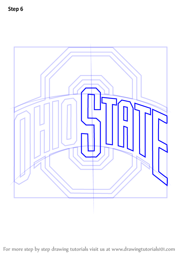 Learn How To Draw Ohio State Buckeyes Logo Logos And
