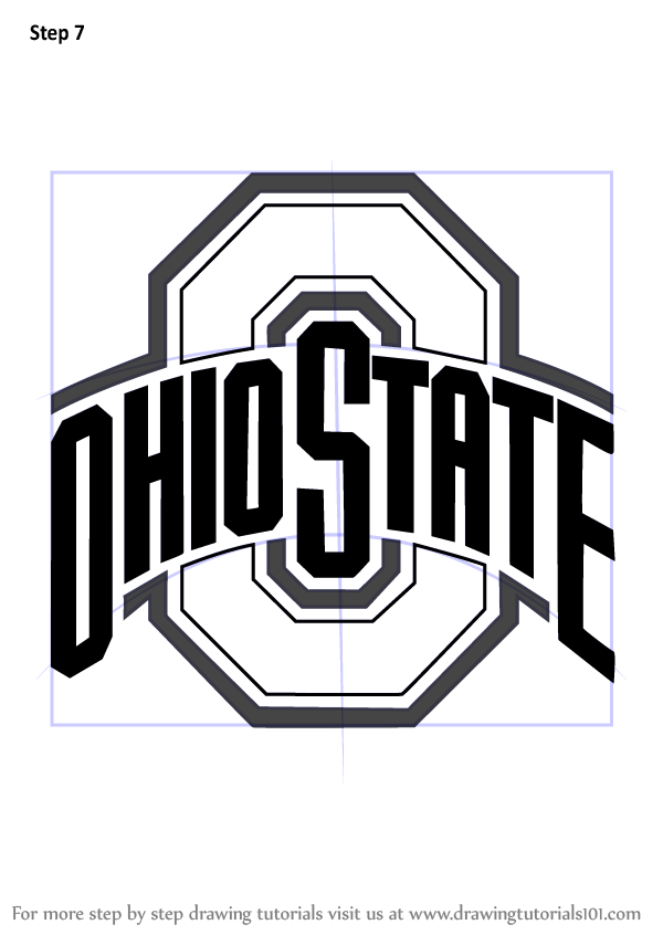 Learn How To Draw Ohio State Buckeyes Logo Logos And Mascots Step By Step Drawing Tutorials
