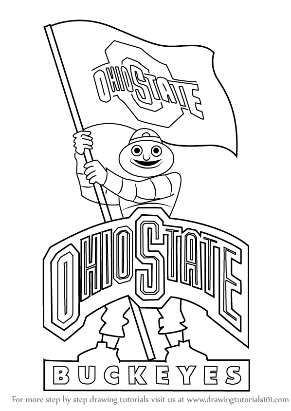 Step by Step How to Draw Ohio State