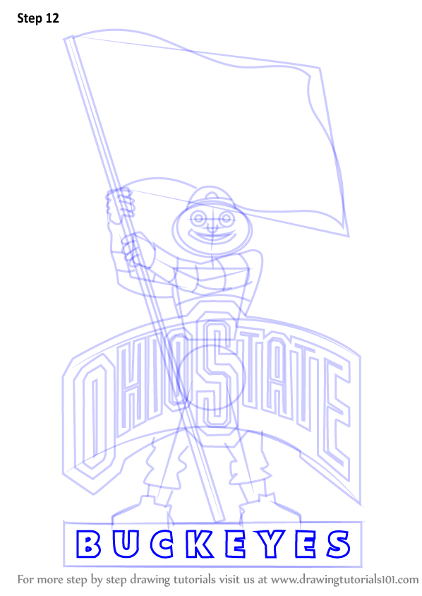 Mascot Learn and Draw  Buckeyes to Ohio (Logos State How