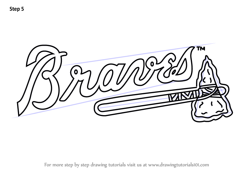 Learn How To Draw Atlanta Braves Logo Mlb Step By Step
