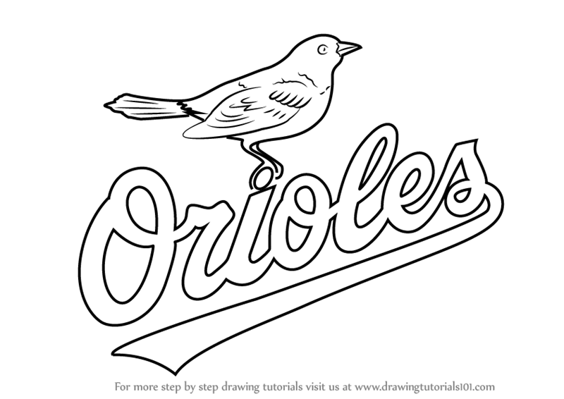 graphic relating to Orioles Printable Schedule known as Find out How toward Attract Baltimore Orioles Emblem (MLB) Stage via Move