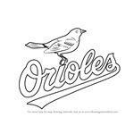 How to Draw Baltimore Orioles Logo