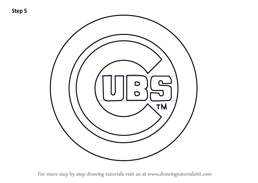 cubs coloring pages learn how to draw chicago cubs logo mlb step by step