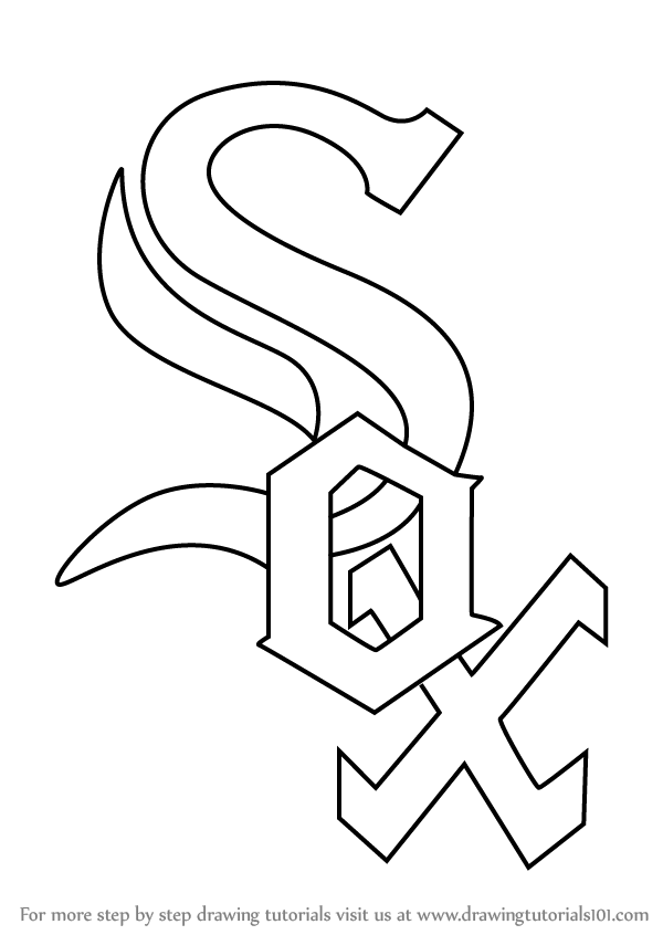 Texas coloring pages for kids coloring home - Learn How To Draw Chicago White Sox Logo Mlb Step By
