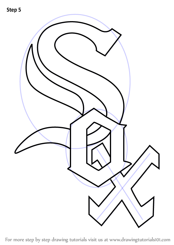 Learn How To Draw Chicago White Sox Logo Mlb Step By
