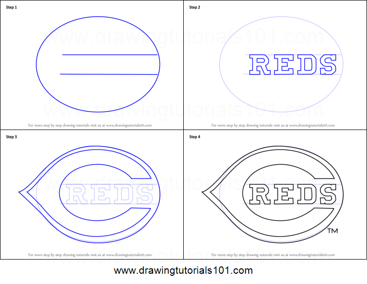 photograph about Cincinnati Reds Printable Schedule identified as How towards Attract Cincinnati Reds Symbol printable stage through stage