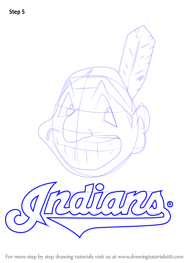 Learn How to Draw Cleveland Indians Logo (MLB) Step by ...
