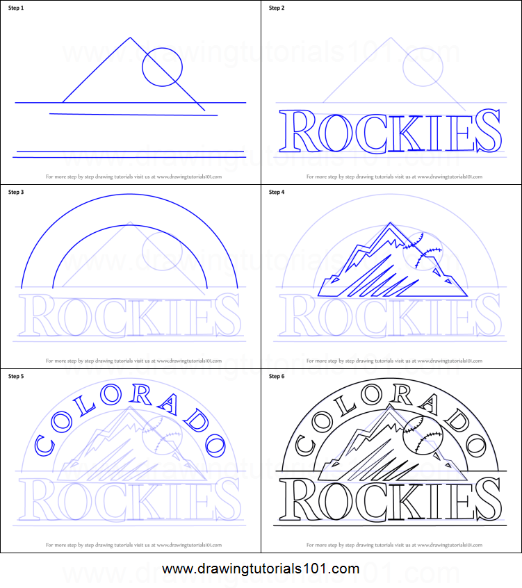colorado rockies logo coloring pages - photo#12
