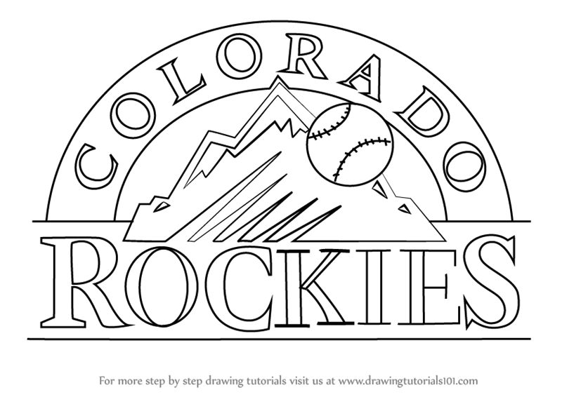 colorado rockies logo coloring pages - photo#4
