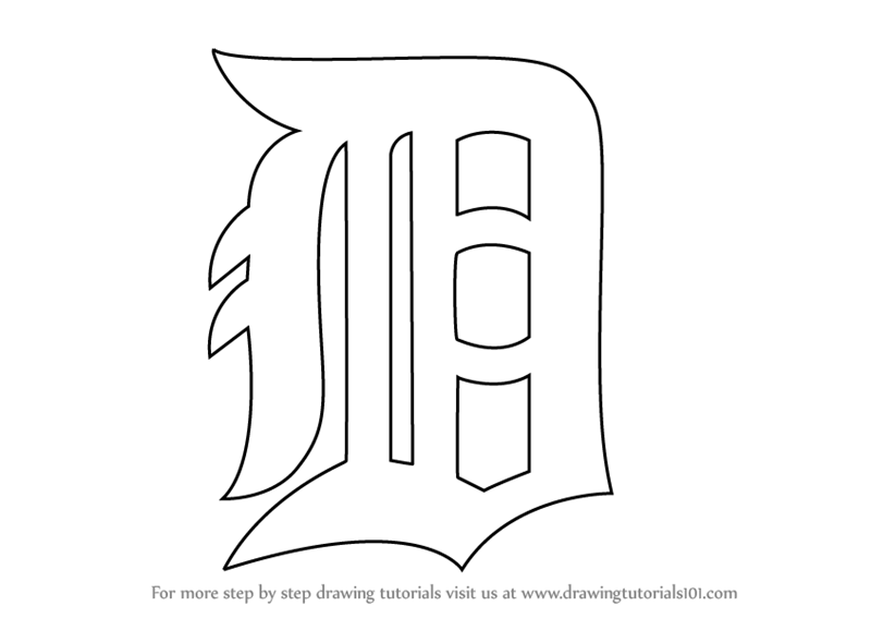 Learn How To Draw Detroit Tigers Logo MLB Step By Step