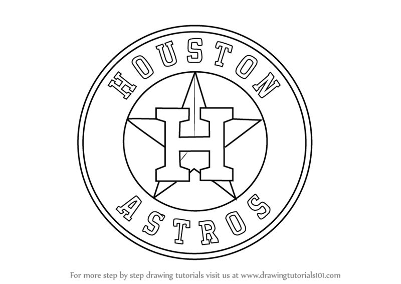 Step by Step How to Draw Houston Astros Logo : DrawingTutorials101.com