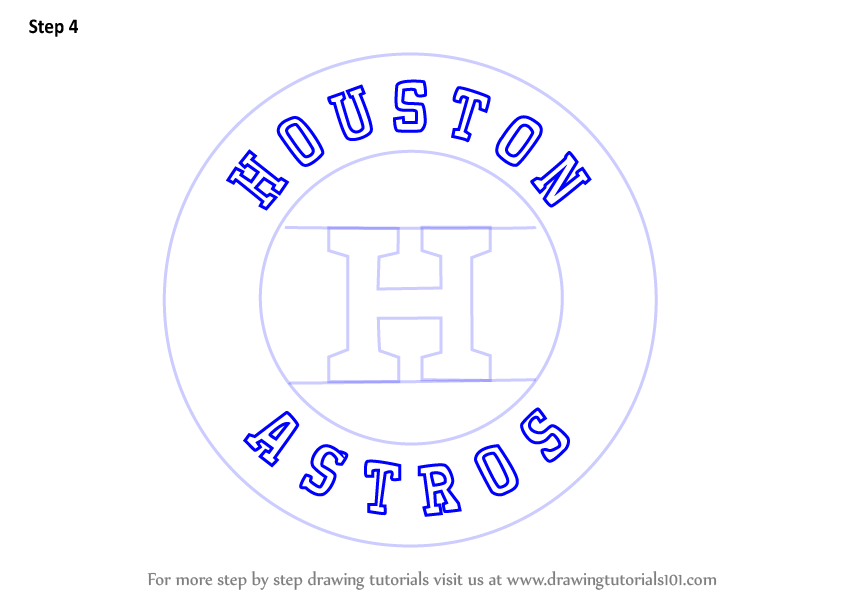 Step By Step How To Draw Houston Astros Logo