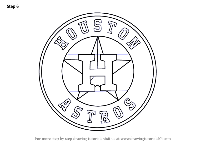 Learn How to Draw Houston Astros Logo (MLB) Step by Step : Drawing Tutorials