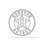 learn how to draw houston astros logo mlb step by step drawing