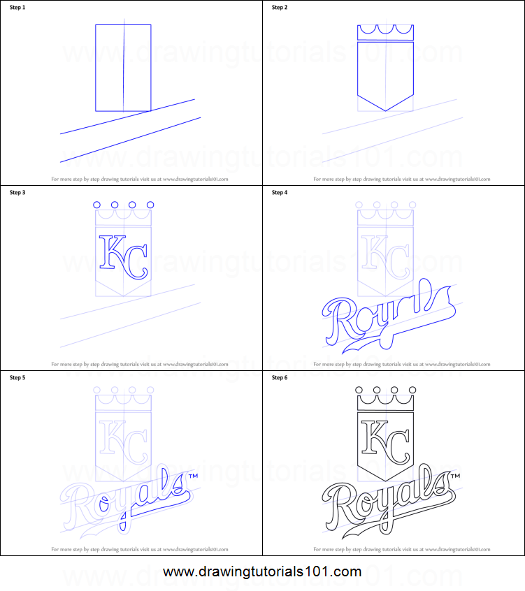 photograph relating to Kc Royals Schedule Printable named How in direction of Attract Kansas Town Royals Symbol printable move by way of stage
