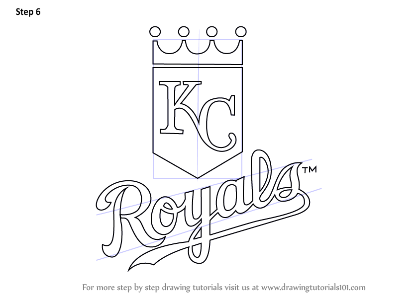 Learn How To Draw Kansas City Royals Logo Mlb Step By