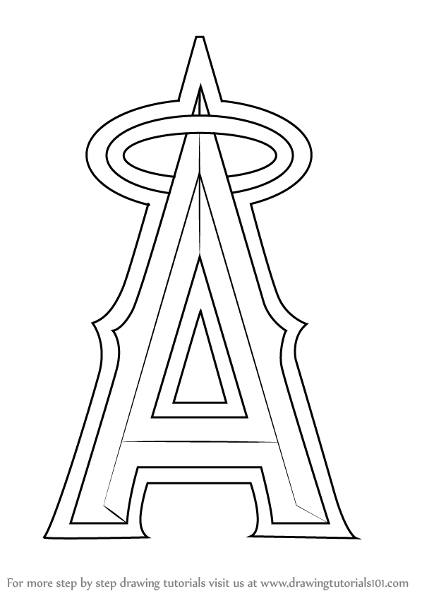 los angeles angels coloring pages - photo#2