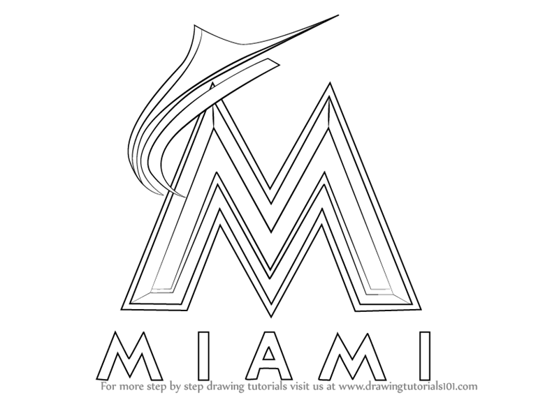 miami marlins coloring pages - photo#2